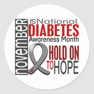 Diabetes Awareness Month Ribbon I2.4 Classic Round Sticker