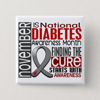 Diabetes Awareness Month Ribbon I2.5 Button