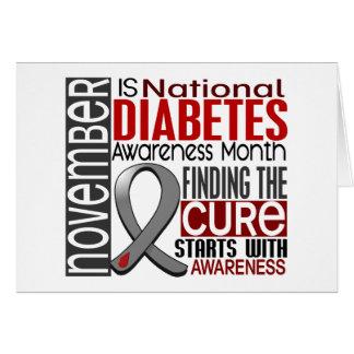 Diabetes Awareness Month Ribbon I2.5 Card