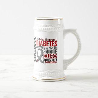 Diabetes Awareness Month Ribbon I2.5 Coffee Mugs