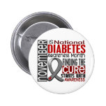 Diabetes Awareness Month Ribbon I2.5 Pins