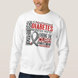 Diabetes Awareness Month Ribbon I2.5 Pullover Sweatshirt