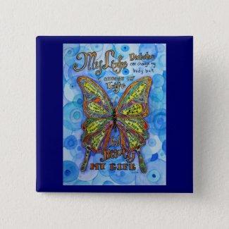 Diabetes Awareness My Life Butterfly Art Poem Pins