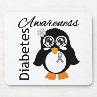 Diabetes Awareness Penguin Mouse Pad