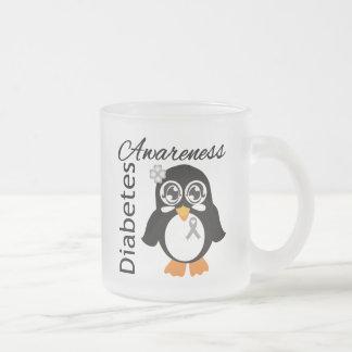 Diabetes Awareness Penguin 10 Oz Frosted Glass Coffee Mug