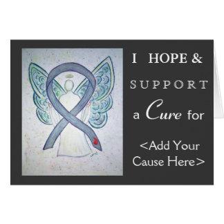 Diabetes Awareness Ribbon Angel Art Greeting Cards