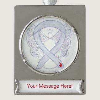 Diabetes Awareness Ribbon Angel Art Ornament