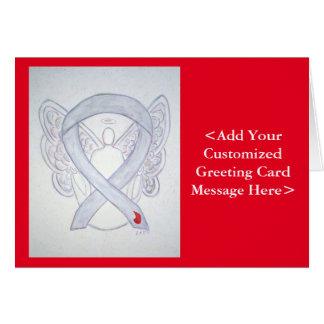 Diabetes Awareness Ribbon Angel Cards