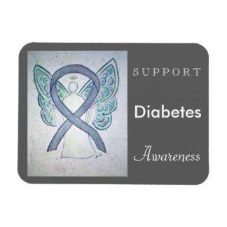 Diabetes Awareness Ribbon Angel Custom Magnet