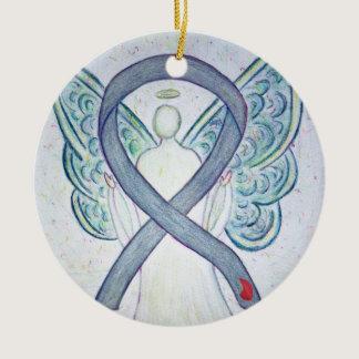 Diabetes Awareness Ribbon Angel Custom Ornament