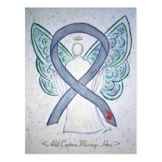 Diabetes Awareness Ribbon Angel Custom Postcard