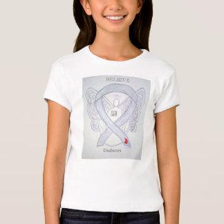Diabetes Awareness Ribbon Angel Custom Shirt