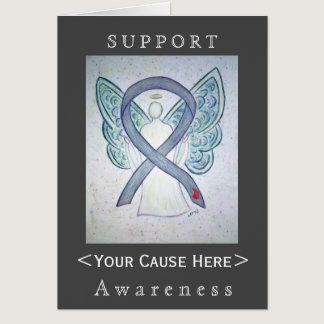 Diabetes Awareness Ribbon Angel Customized Card