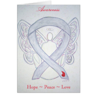 Diabetes Awareness Ribbon Angel Greeting Card