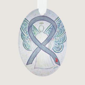 Diabetes Awareness Ribbon Angel Ornament