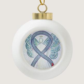 Diabetes Awareness Ribbon Angel Ornaments