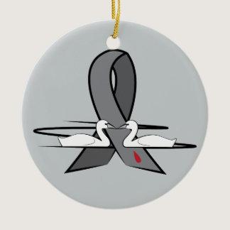 Diabetes Awareness Ribbon Ceramic Ornament