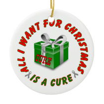 Diabetes Awareness Ribbon Cure Christmas Ornament