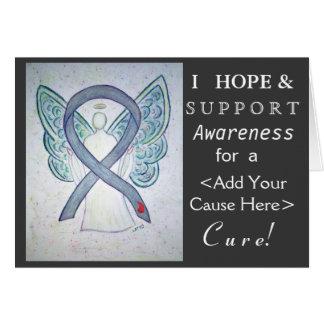 Diabetes Awareness Ribbon Custom Cause Angel Cards