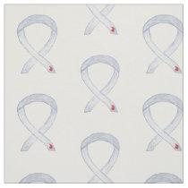 Diabetes Awareness Ribbon Custom Fabric Material
