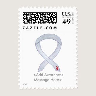 Diabetes Awareness Ribbon Custom Postage Stamp
