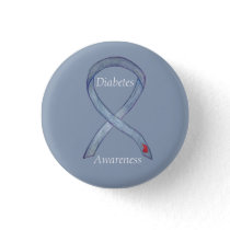 Diabetes Awareness Ribbon Customized Art Pin