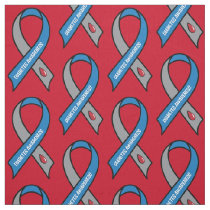 Diabetes Awareness Ribbon Fabric