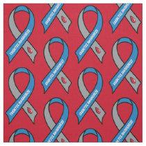 Diabetes Awareness Ribbon Fabric