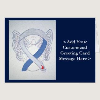 Diabetes Awareness Ribbon IDDM Angel Custom Cards