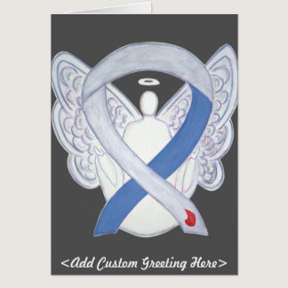 Diabetes Awareness Ribbon IDDM Angel Greeting Card