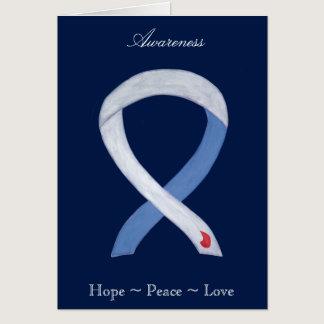 Diabetes Awareness Ribbon IDDM Greeting Card