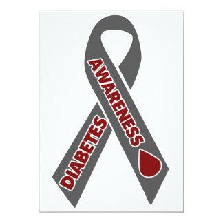 Diabetes Awareness Ribbon 5x7 Paper Invitation Card