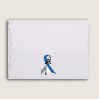 Diabetes Awareness Ribbon Lighthouse of Hope Envelope