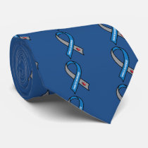 Diabetes Awareness Ribbon Neck Tie