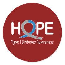 Diabetes Awareness Ribbon of Hope Classic Round Sticker