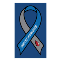 Diabetes Awareness Ribbon Poster