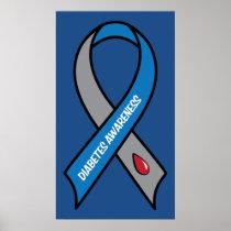 Diabetes Awareness Ribbon Poster
