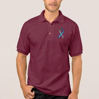 Diabetes Awareness Ribbon Polo T-shirt