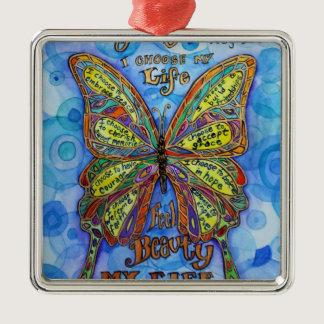 Diabetes Awareness Support Butterfly Art Ornaments