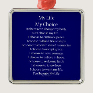 Diabetes Awareness Support Poem Charm Ornaments
