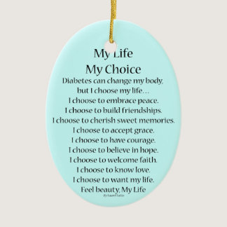 Diabetes Awareness Support Poem Ornament Pendants