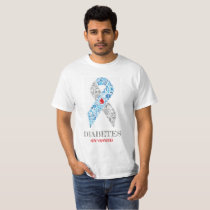 Diabetes Awarness Ribbon with Treatment of symbol T-Shirt