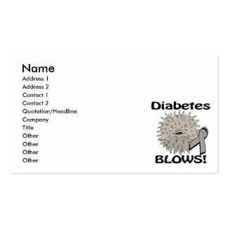 Diabetes Blows Awareness Design Double-Sided Standard Business Cards (Pack Of 100)
