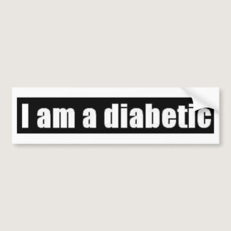 Diabetes Bumper Sticker
