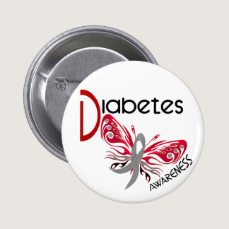 Diabetes BUTTERFLY 3 Button