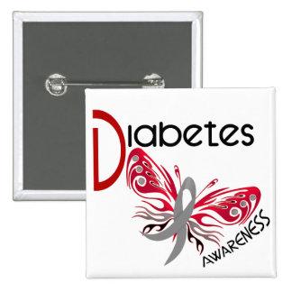 Diabetes BUTTERFLY 3 Buttons