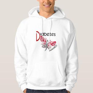Diabetes BUTTERFLY 3 Hooded Sweatshirt