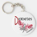 Diabetes BUTTERFLY 3 Key Chain
