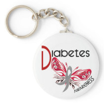 Diabetes BUTTERFLY 3 Keychain