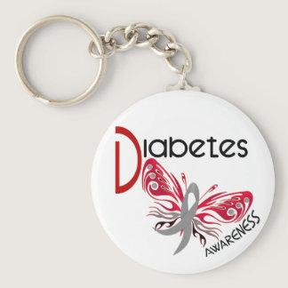 Diabetes BUTTERFLY 3 Keychain